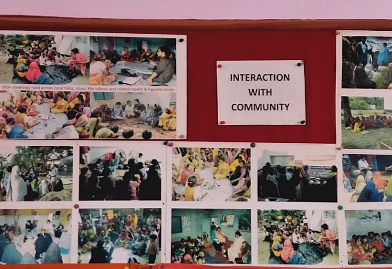 A photograph depicting ways of community interaction at Goonj