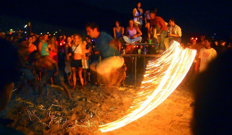 Fire rope, full moon party