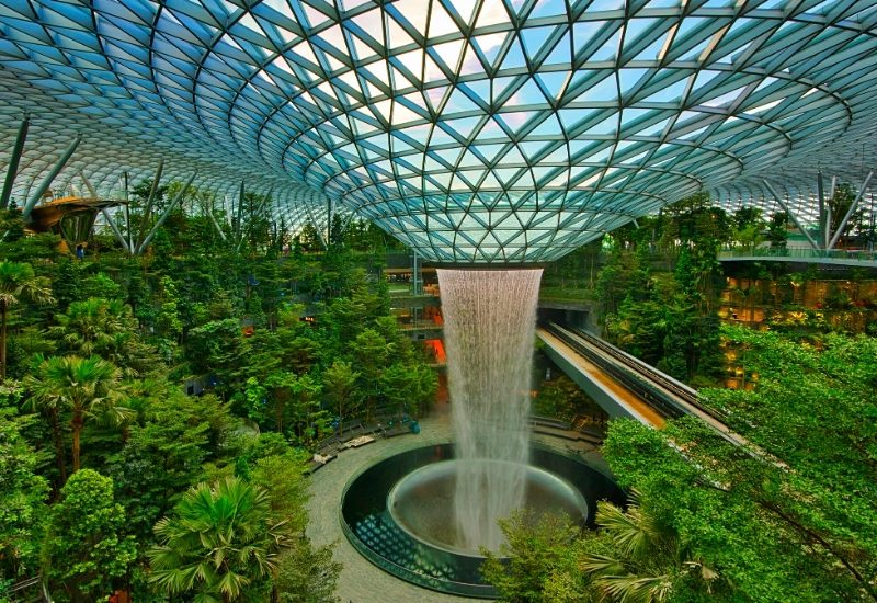 Rain vortex at Jewel Changi Airport, Changi, Singapore