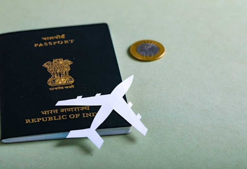 Indian Passport concept