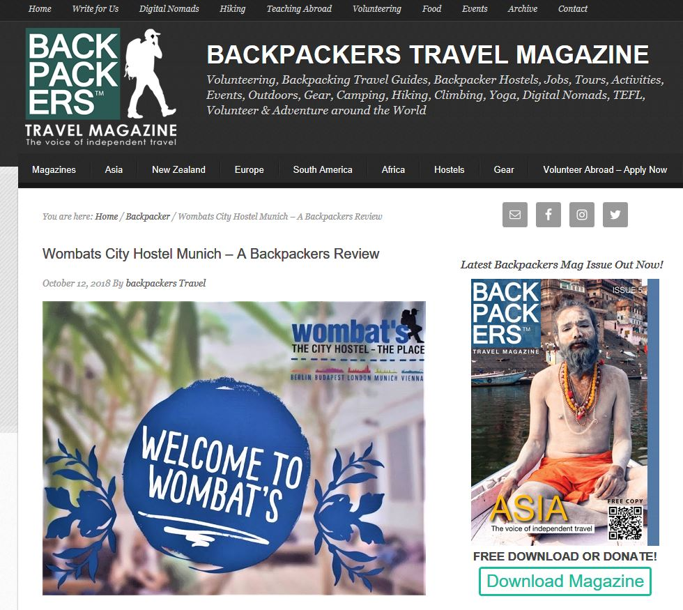Featured publication in Backpacker Magazine
