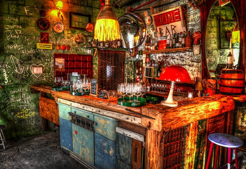 Bar interior in Budapest