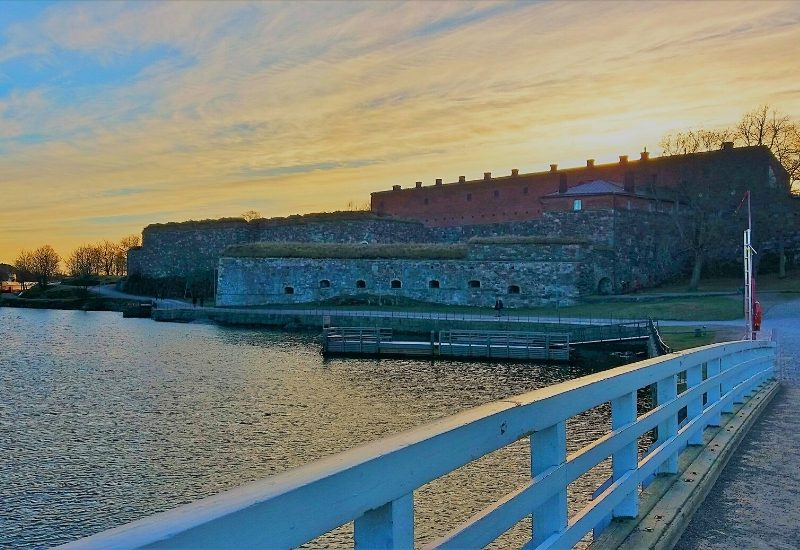 A bridge in Suomenlinna