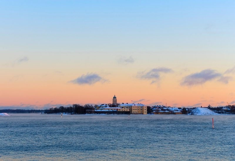 Evening view of Suomenlinna in Helsinki, Finland