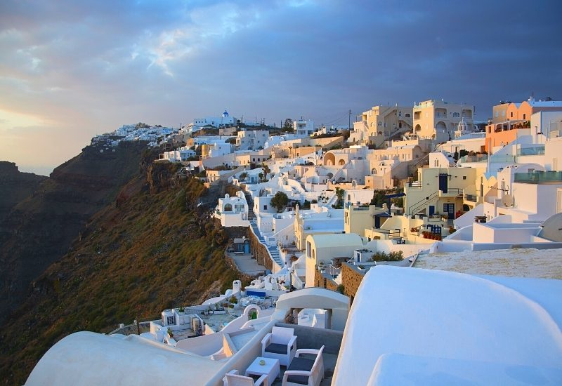 View of Santorini near Fira