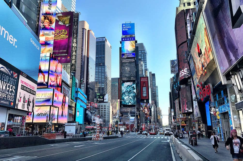 A Walk Through New York Times Square!
