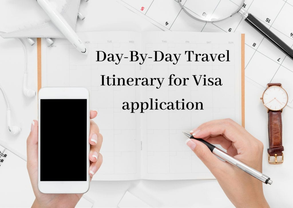 travel itinerary for visa