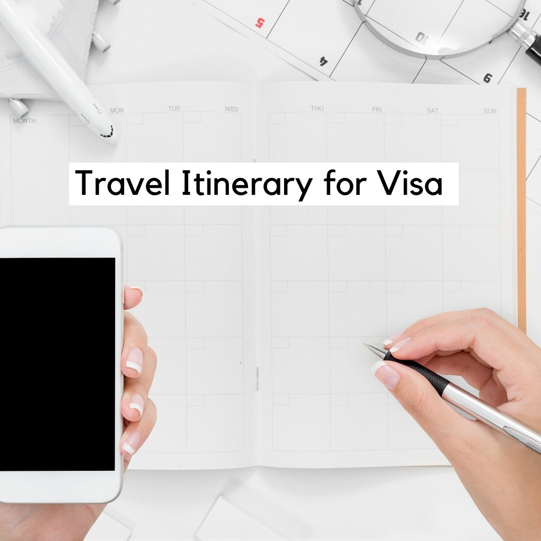 travel itinerary for visa 2