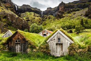 10_Icelandic turf houses near Kalfafell village South Iceland