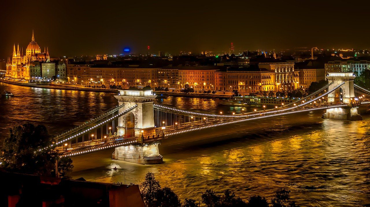 szechenyi chain bridge, suspension bridge, landmark