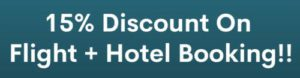 Flight and hotel booking discount