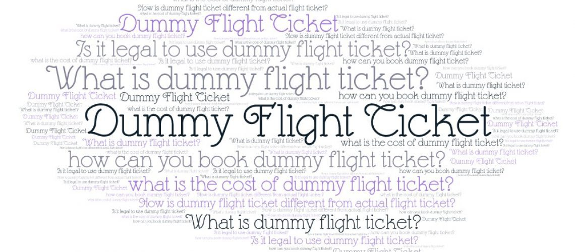 Dummy flight ticket