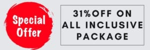31% off on all inclusive package